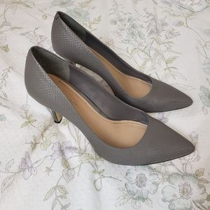 BCBGeneration Gray Pointed Toe Pumps Heels Shoes